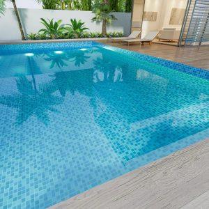 Ceramic Mosiac Pool tiling | Precious Tiling